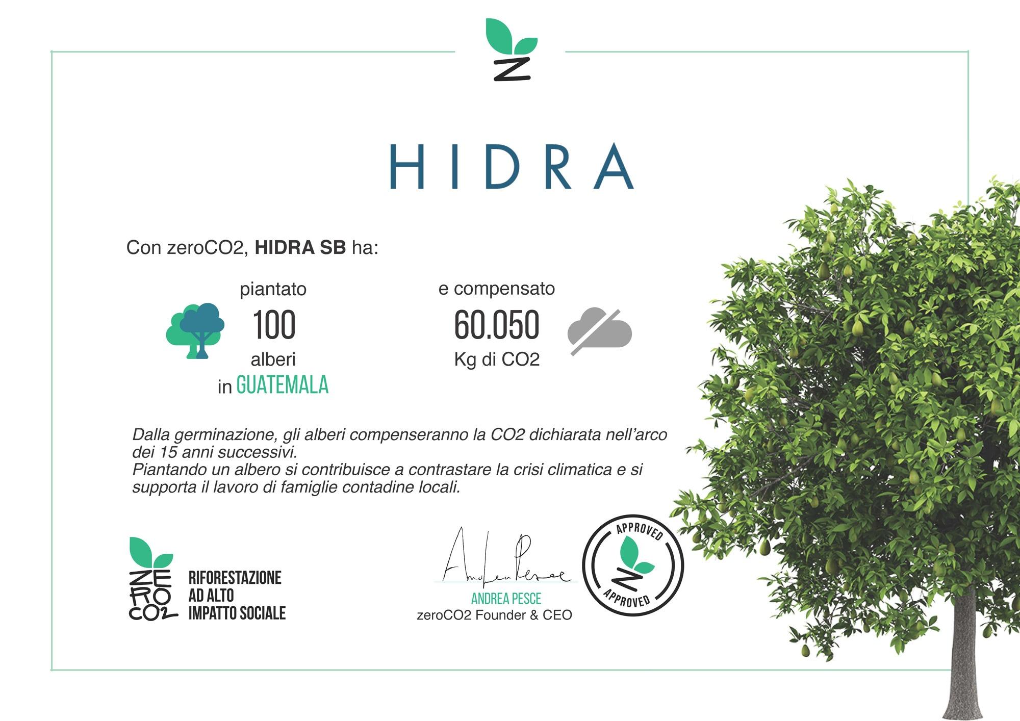 hidra certificato zeroco2